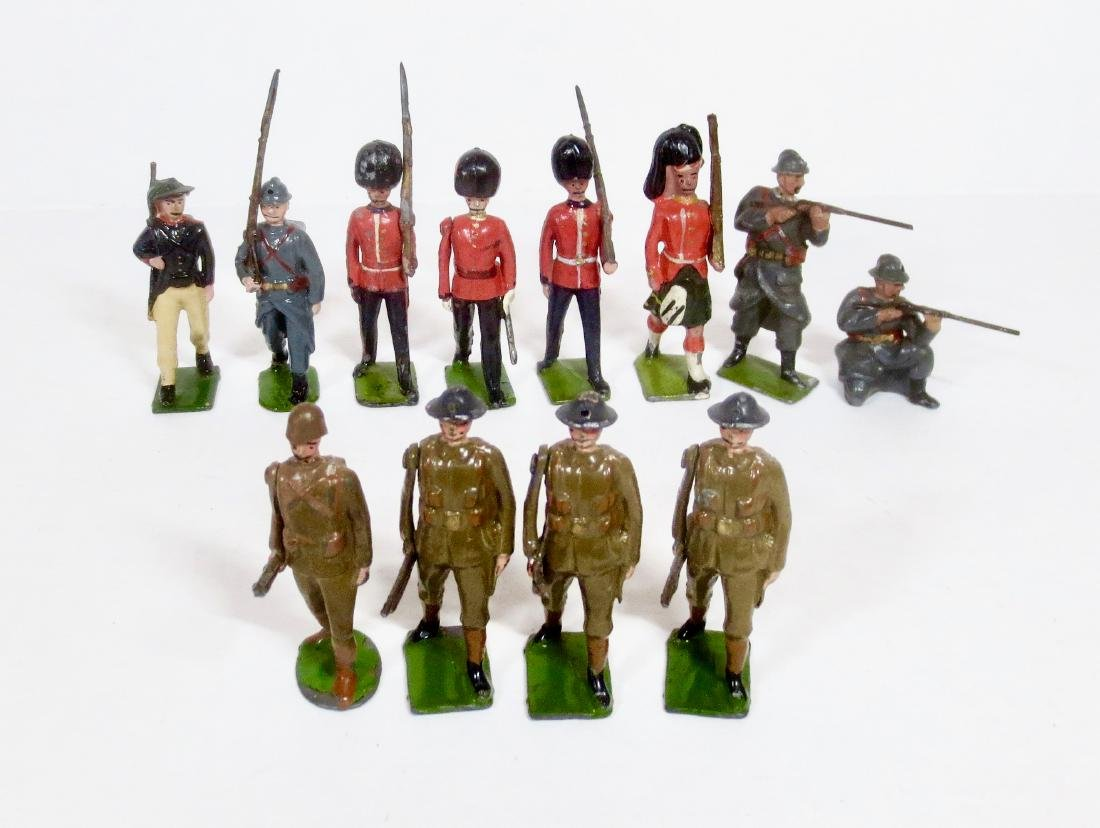 Britains Pre-war Troops and Single Figure Asst.