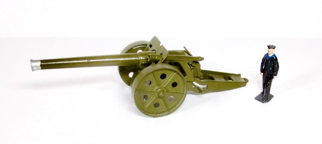 "Britains #1264 4.7"" Naval Gun and Sailor"