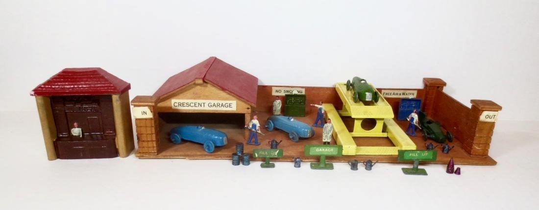 Crescent Rare Wooden Garage, Mechanics and Cars