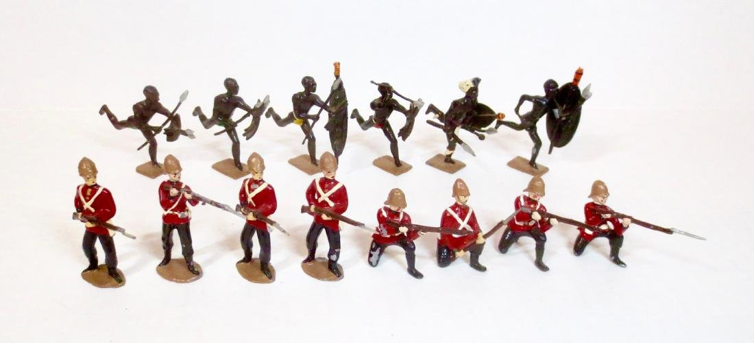 Maker Unknown Solid Cast Zulu War Assortment