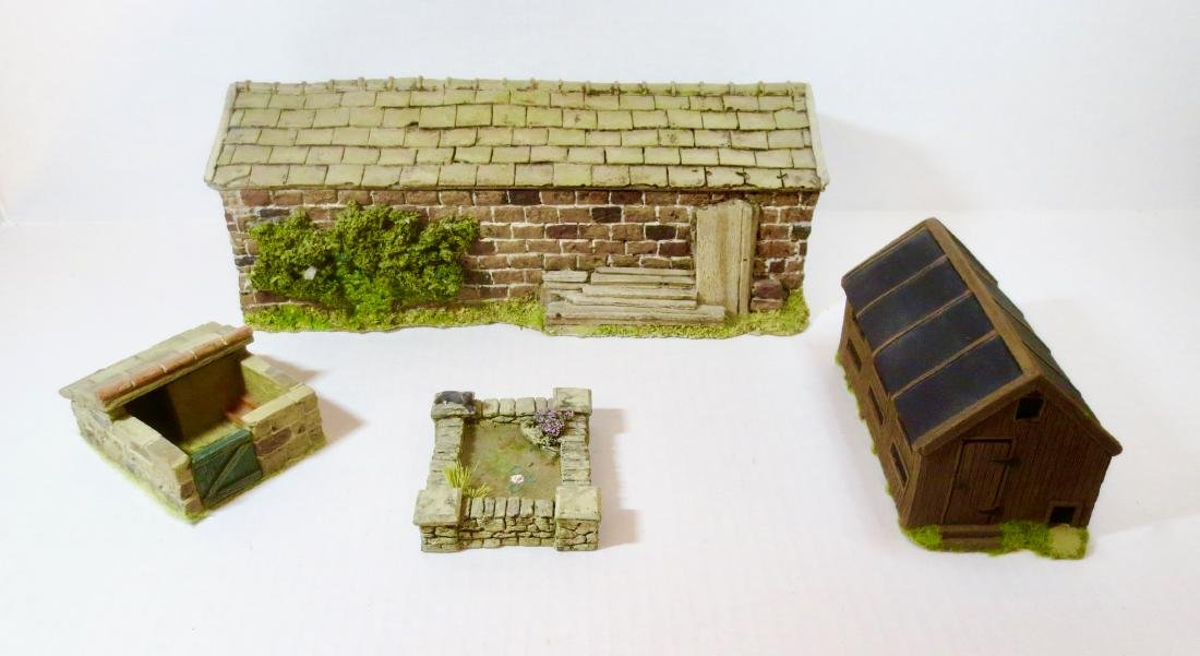 JG Miniatures Cart Shed, Hen House, Pig Sty and