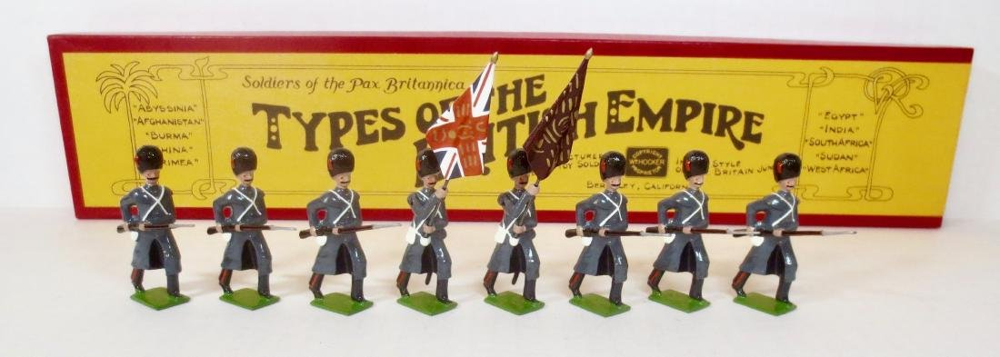 Hocker Set #44 Coldstream Guards with Colors