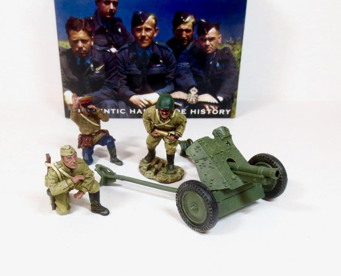 King & Country RA010 Russian Anti tank Gun Set