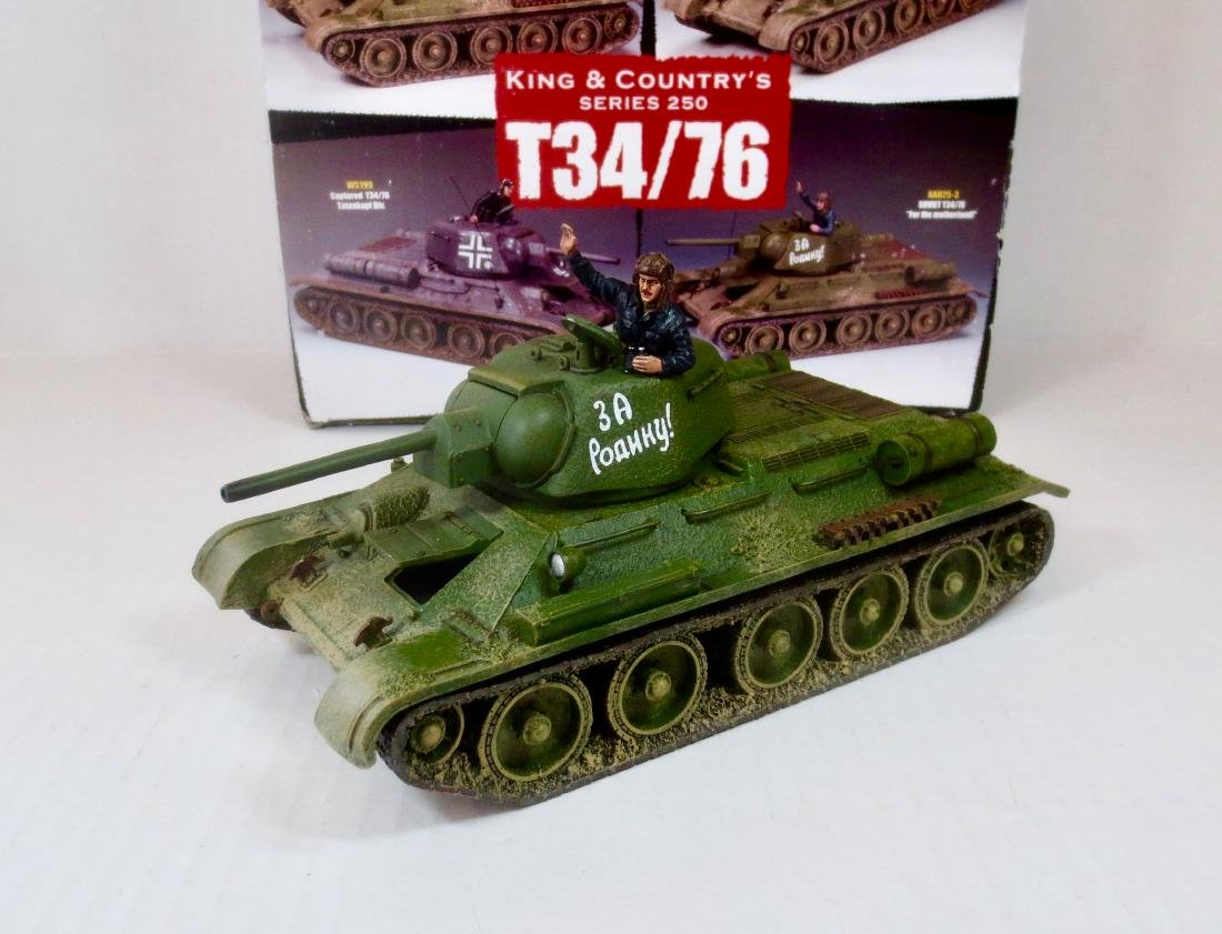 King & Country RA025-3 Soviet T34/76
