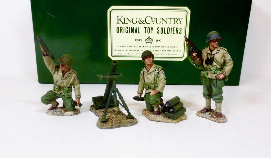 King & Country DD032 3 Man Mortar Team