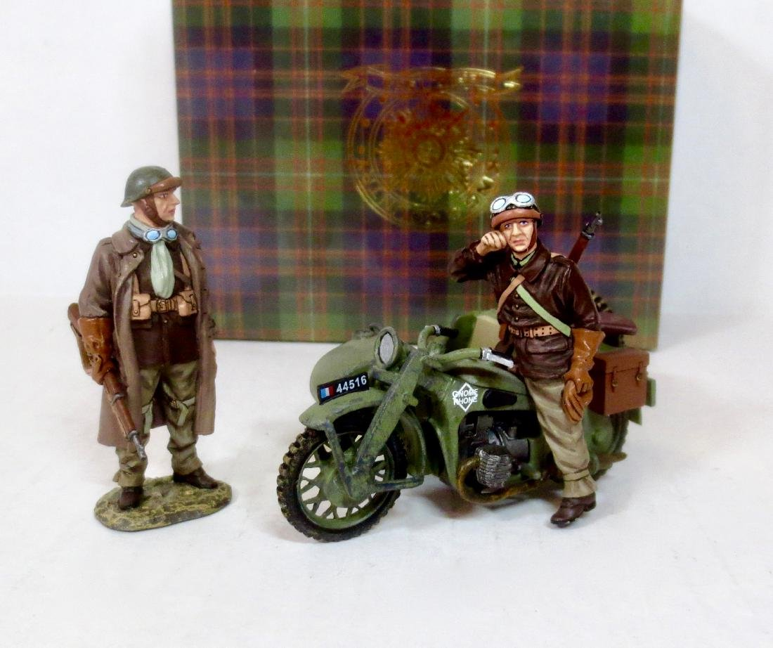 King & Country FOB045 French Motorcycle Combo
