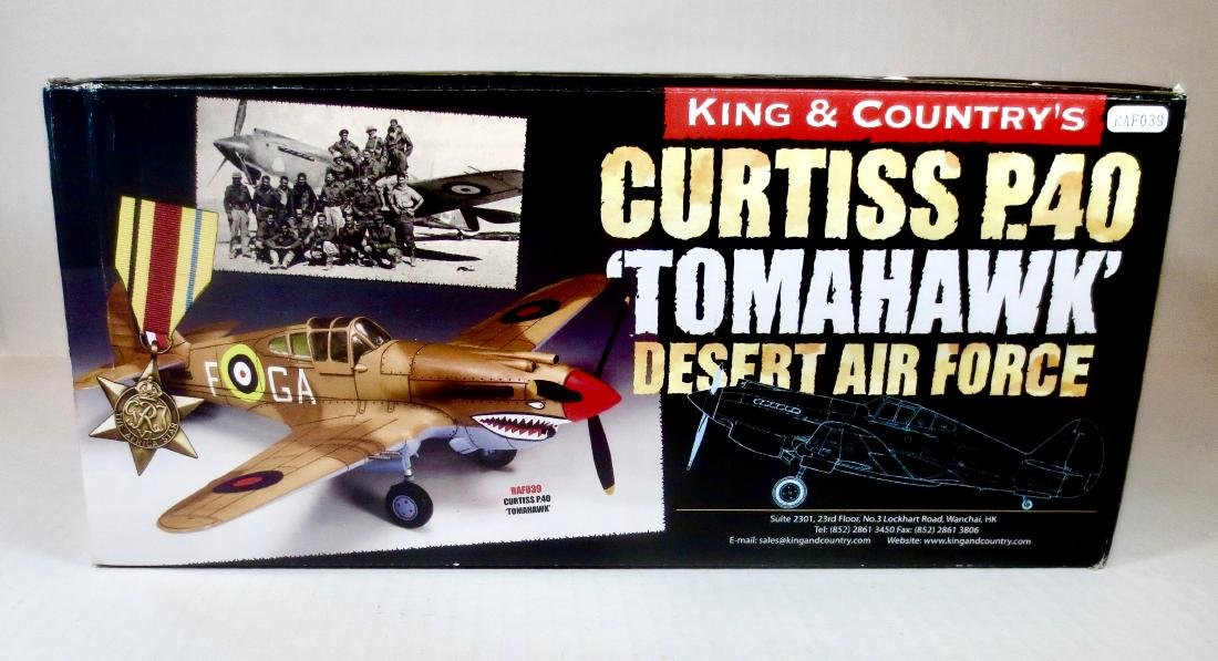 King & Country RAF039 Curtiss P40 Tomahawk