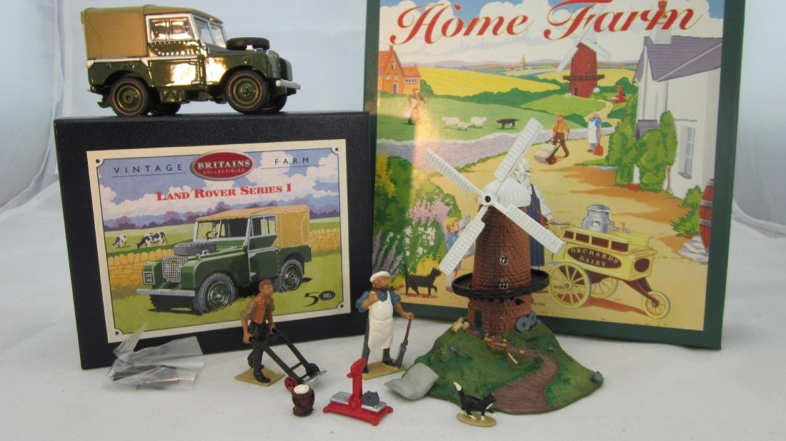 Britains #8708 Windmill Set & #8735 Land Rover.