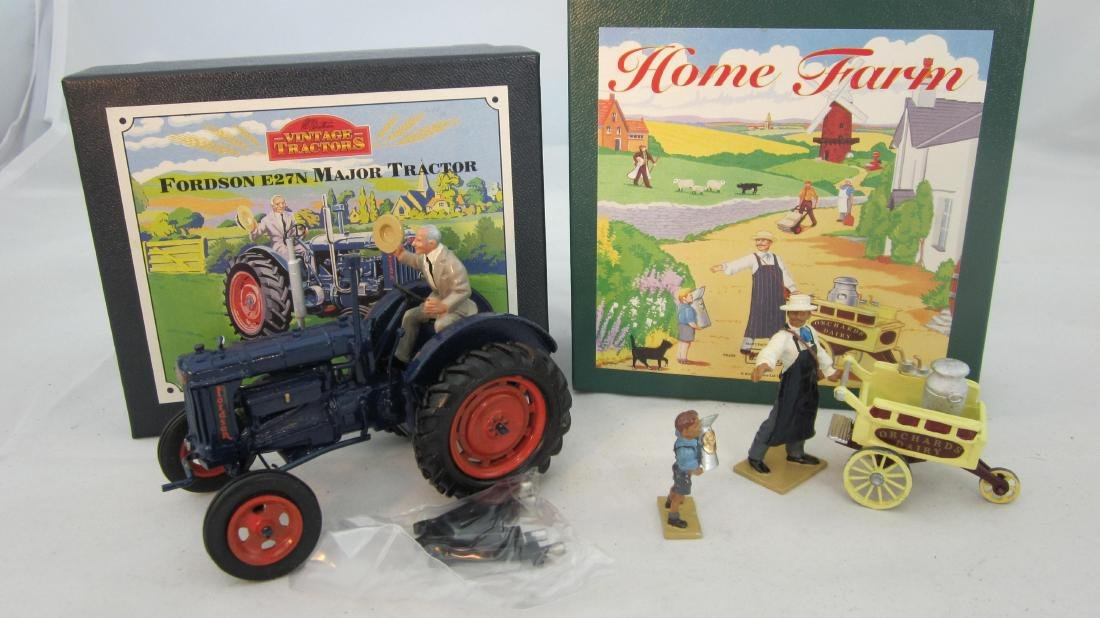 Britains #8709 Milk Cart & 8715 Fordson Tractor.