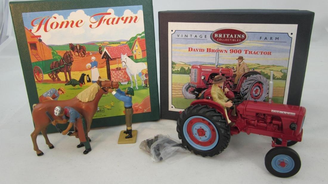 Britains 8713 Farrier Set & 8716 Brown Tractor.