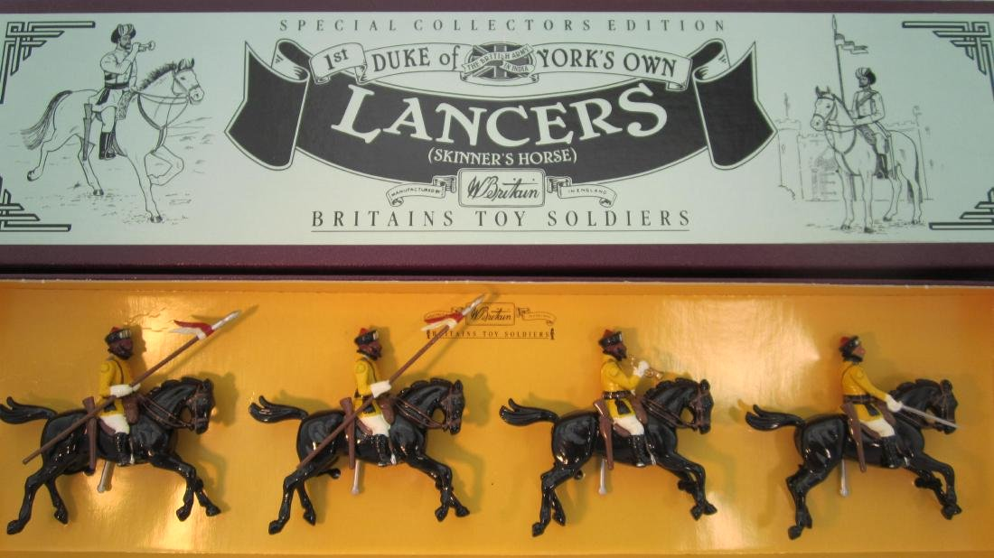 Britains Set #8834 Duke of Yorks Own Lancers.