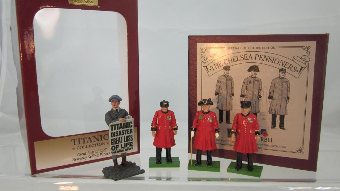 Britains Chelsea Pensioners & Titanic Newsboy.