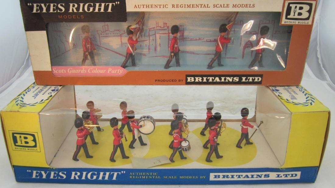 Britains Plastic Scots Guard Band & Color Party.