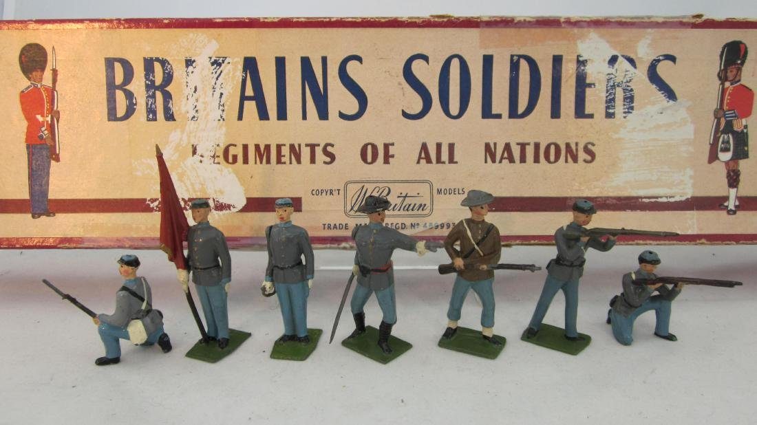 Britains Set #2060 Confederate Infantry.