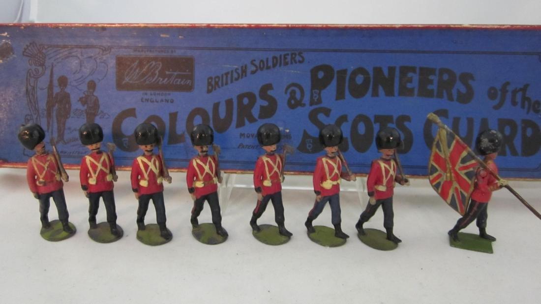 Britains Set 82 Scots Guards Colors & Pioneers.