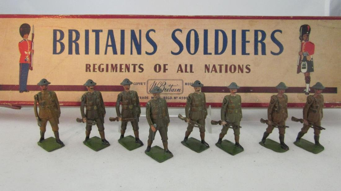 Britains Set #195 British Infantry, Battledress.
