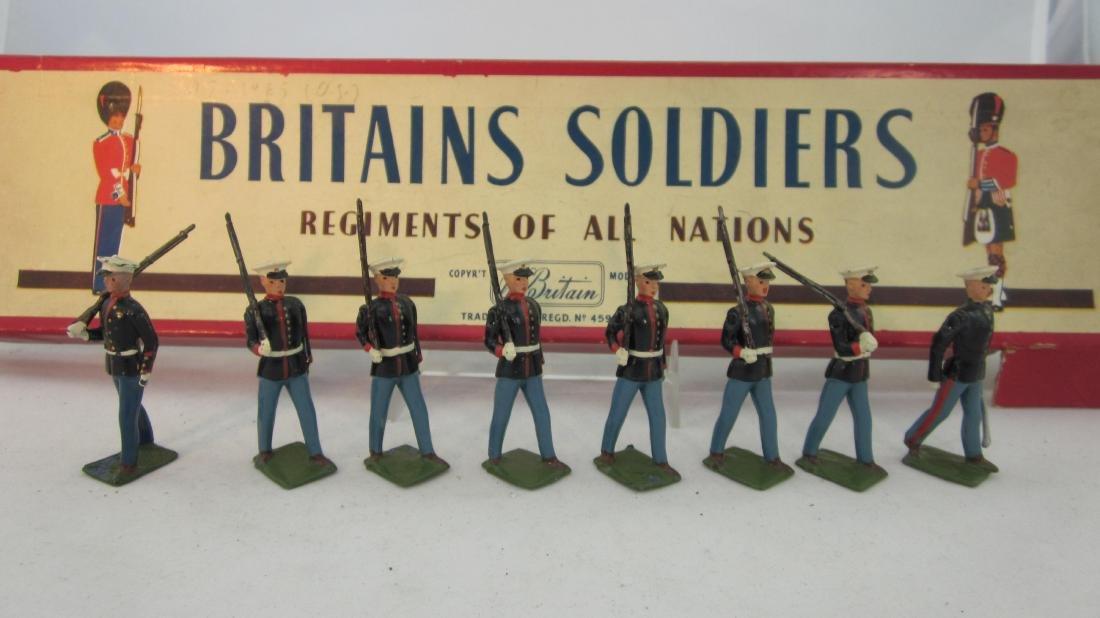Britains Set #228 U.S. Marines Marching.
