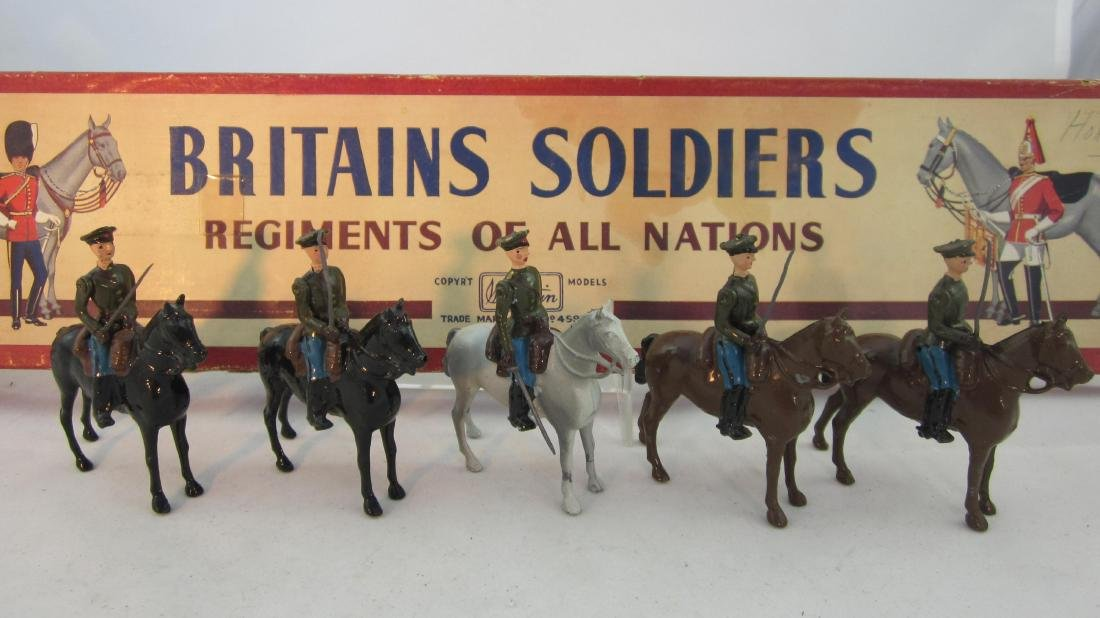 Britains Set #2028 Soviet Cavalry, Peaked Caps.