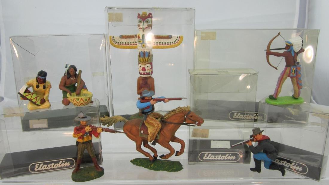 Elastolin/Preiser Cowboys, Indians, 7th Cavalry.