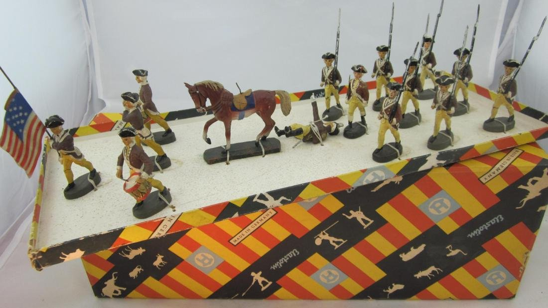 Elastolin 6.5cm Revolutionary War Set in Box.