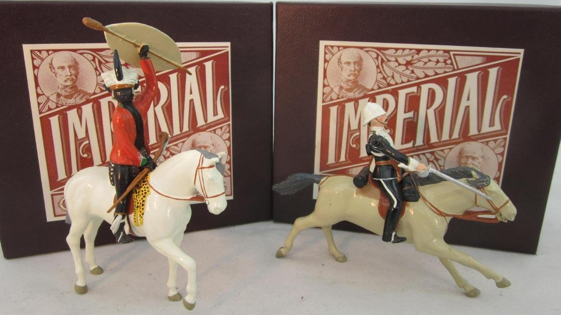 Imperial Set 38a & 40, Zulu Chief & 17th Lancer.