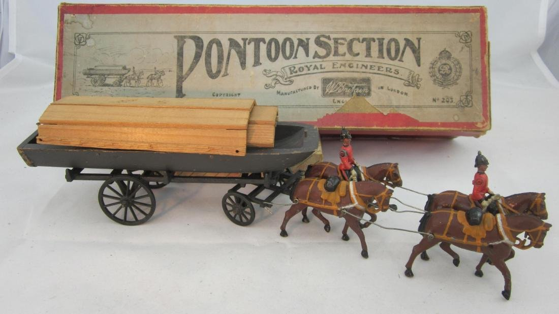 Britains Set #203 Royal Engineer Pontoon Wagon.