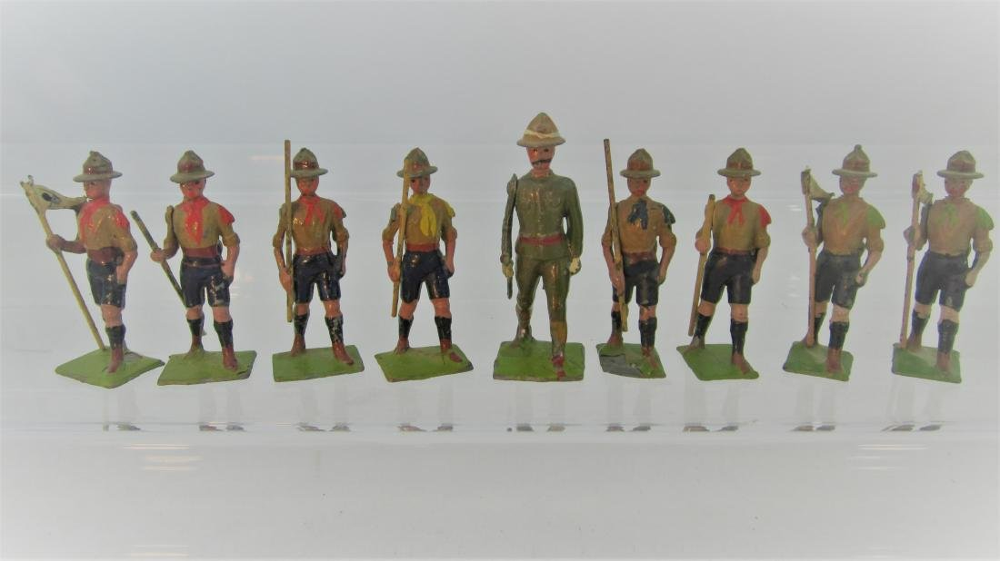 Britains Set #161 Boy Scouts with Scoutmaster.