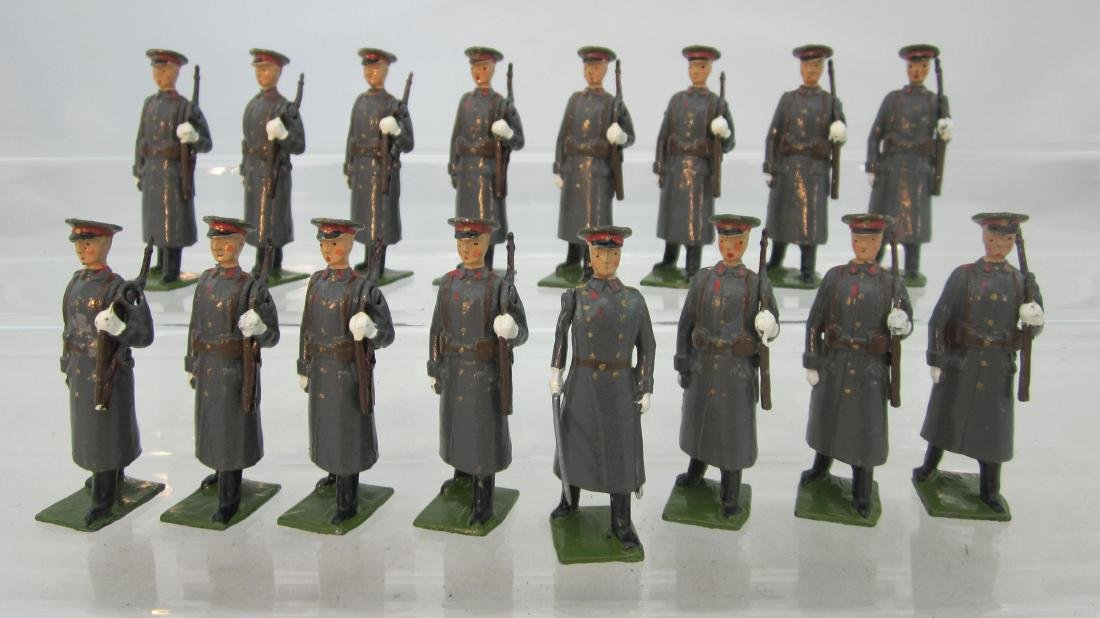 Britains #2027 Soviets Marching, Slung Rifles.