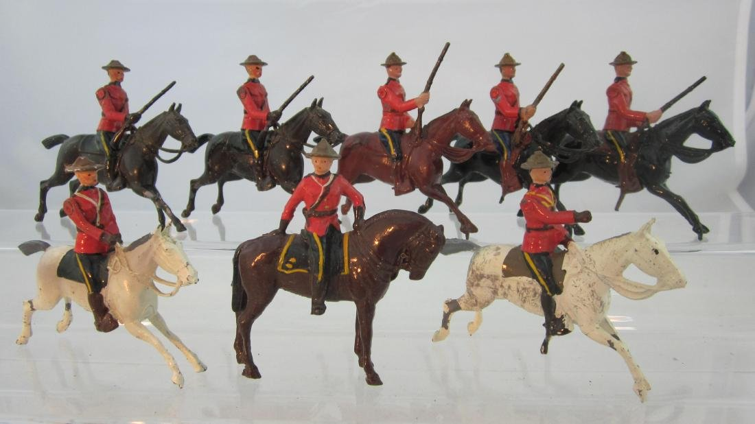 Britains #1349 & 1554 Canadian Mounted Police.