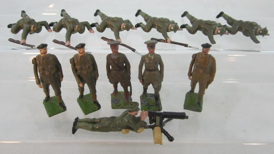 Britains Assorted Khaki WWII Troops.