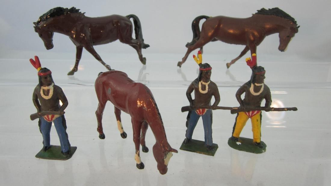 Britains #756 Wild Horses & #150 Wild Indians.
