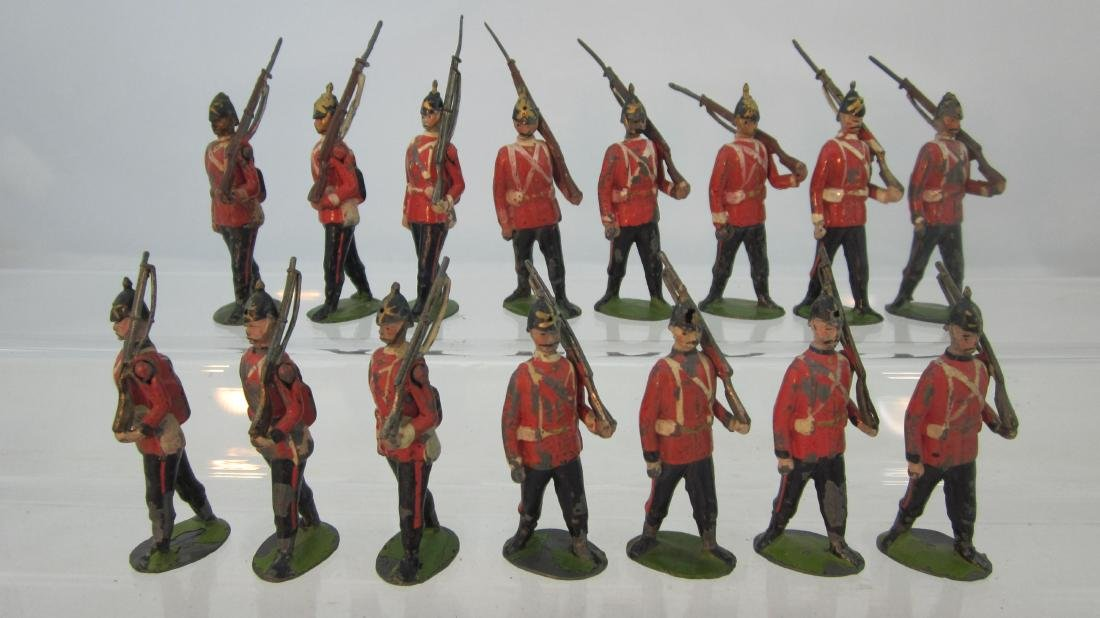 Britains Early Line Infantry Marching.