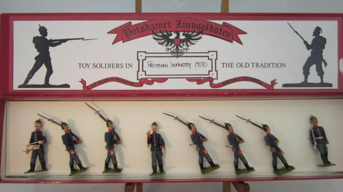 Potsdamer Zinnsoldaten Prussian Infantry 1870.