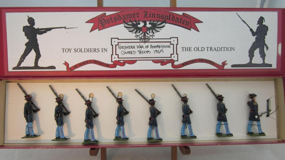 """Potsdamer Zinnsoldaten U.S. """"Corp de Afrique""""."""