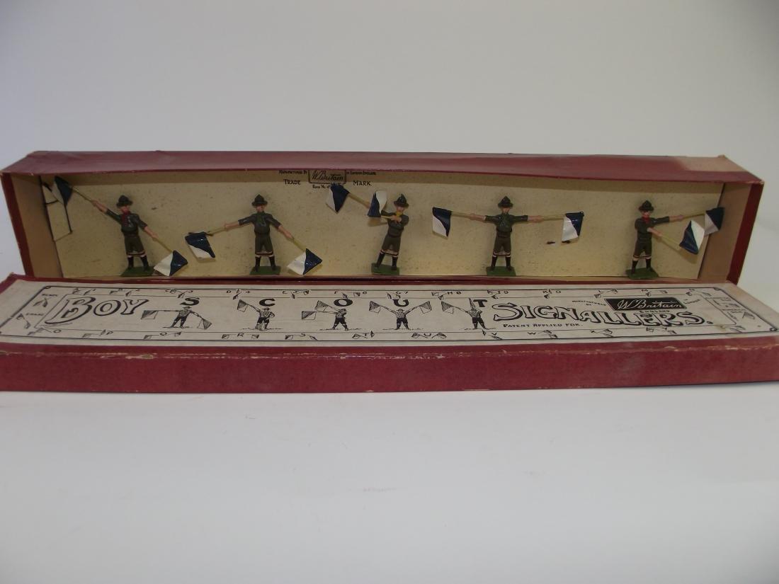 Britains # 163 Boy Scout Signalers