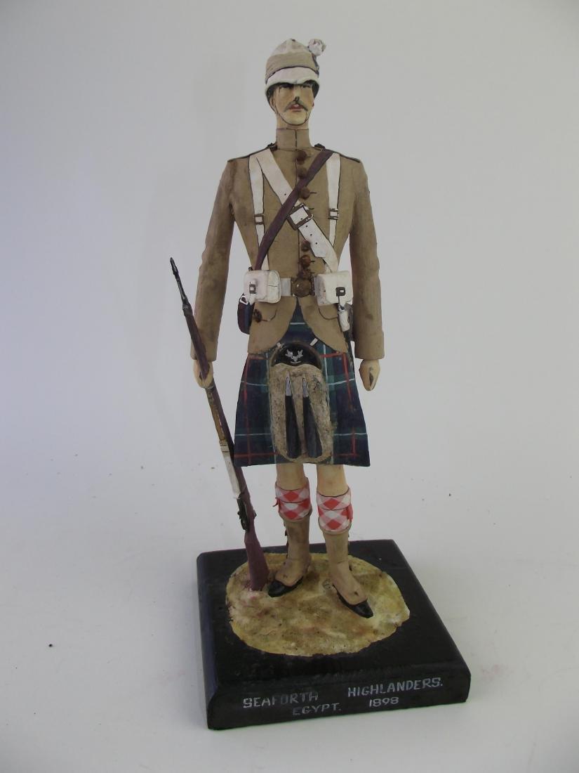 Wood Hand Carved & Painted Highlander