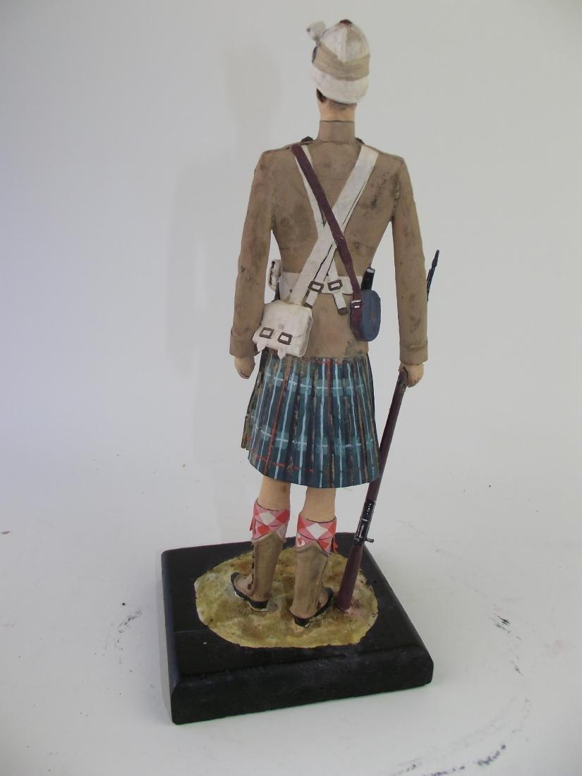 Wood Hand Carved & Painted Highlander - 2
