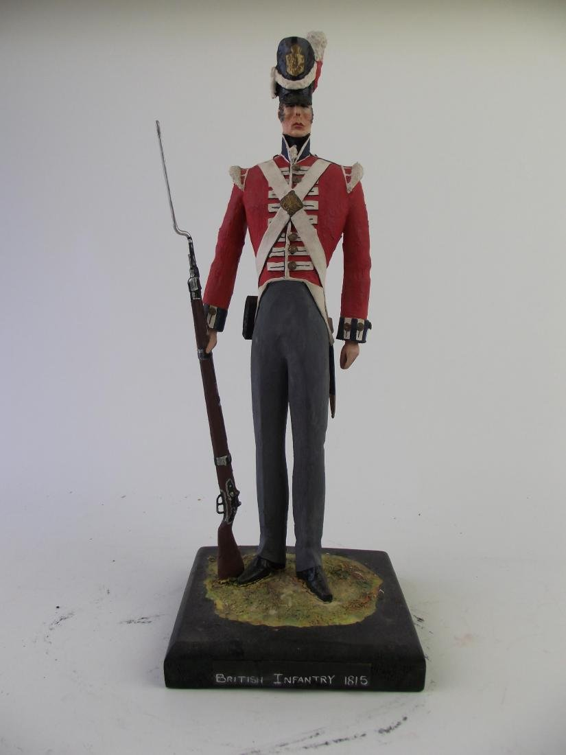 Wood Hand Carved & Painted British Infantry