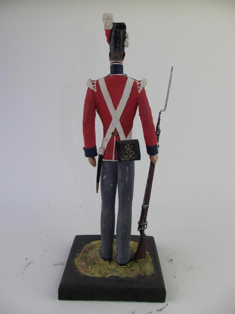 Wood Hand Carved & Painted British Infantry - 2