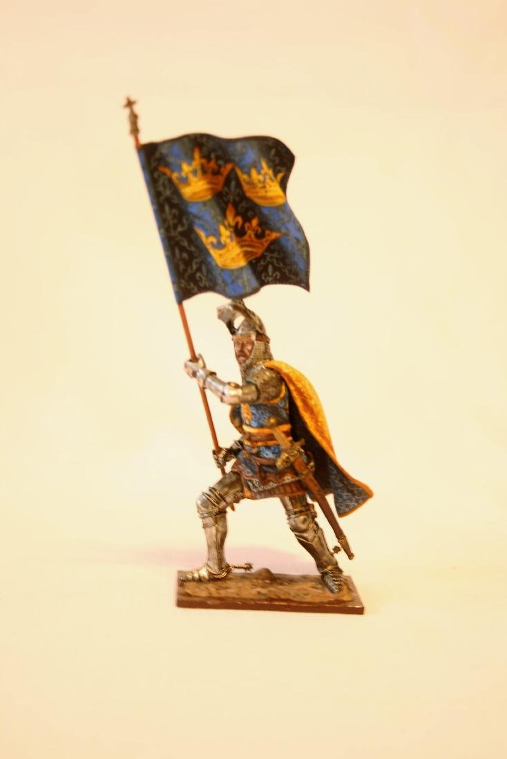 Medieval Foot Knight with Banner