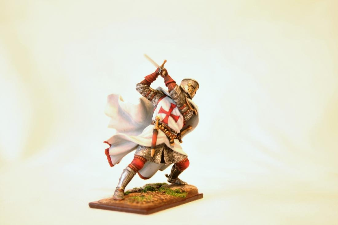 Medieval Templar Crusader Knight on Foot