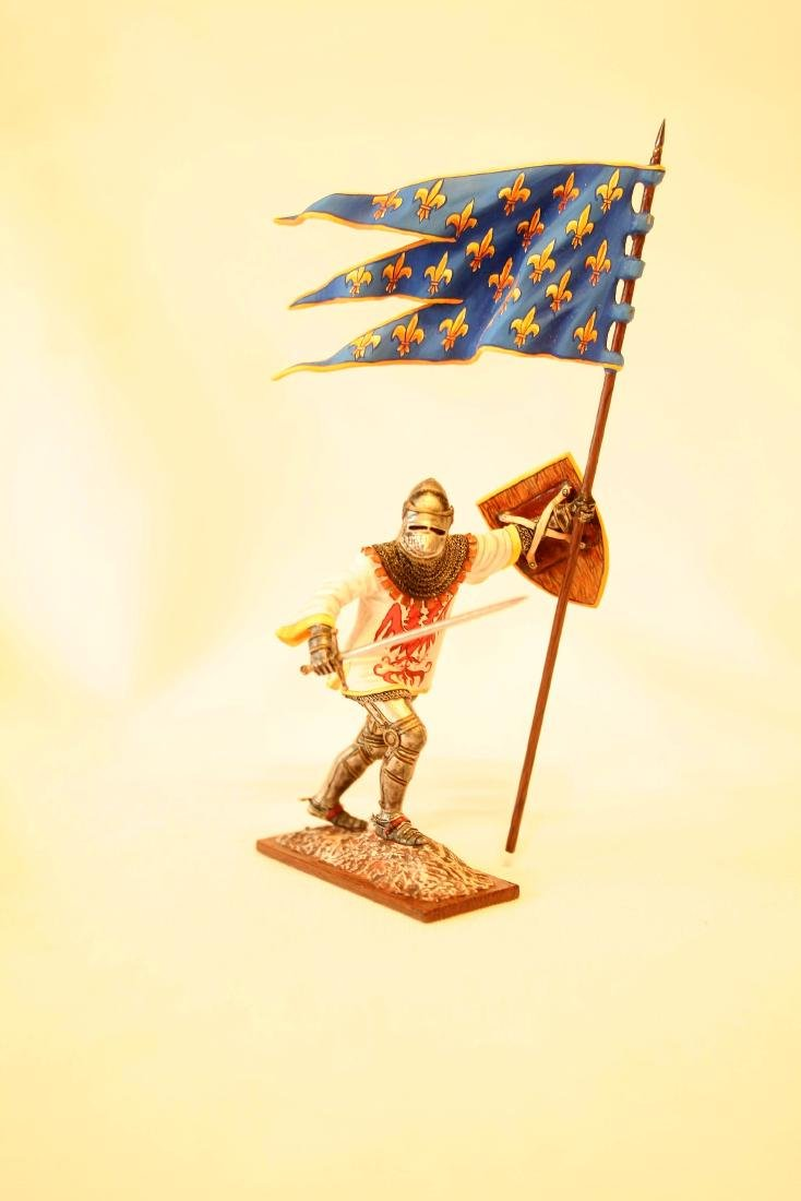 Medieval Knight on Foot with Banner