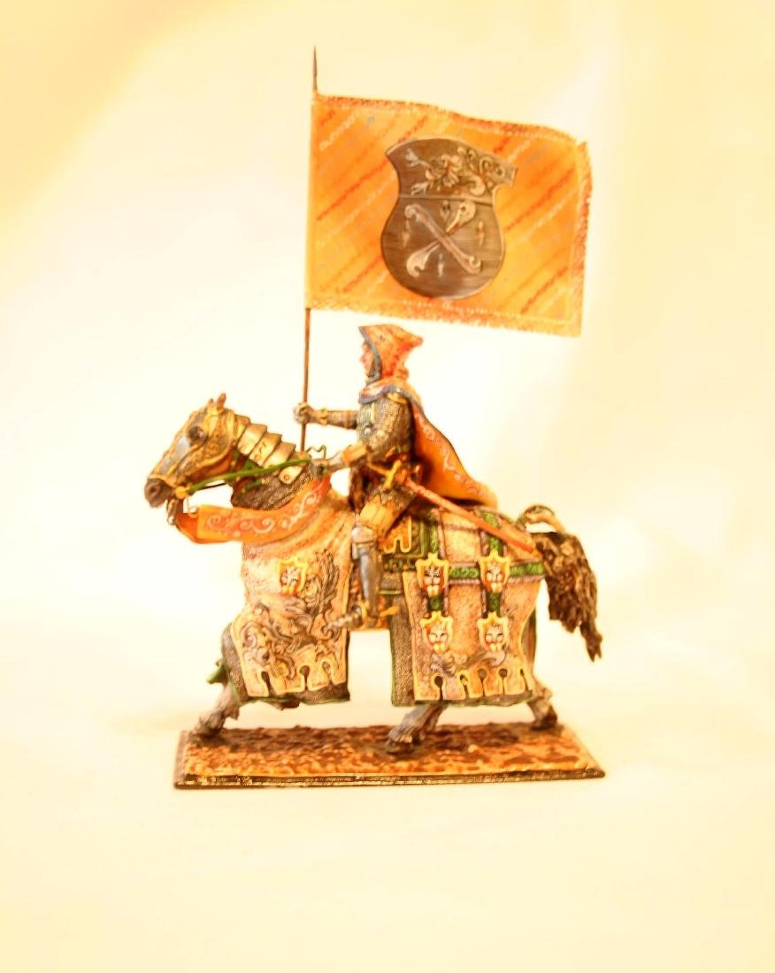 Medieval Mounted Knight with Banner