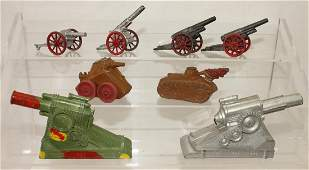 Dimestore Lot Manoil Cannons and Tanks