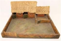 Vintage Wood Farm Model for 54mm Figures