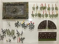 Britains PreWar Garden Lot Plants Beds Pond