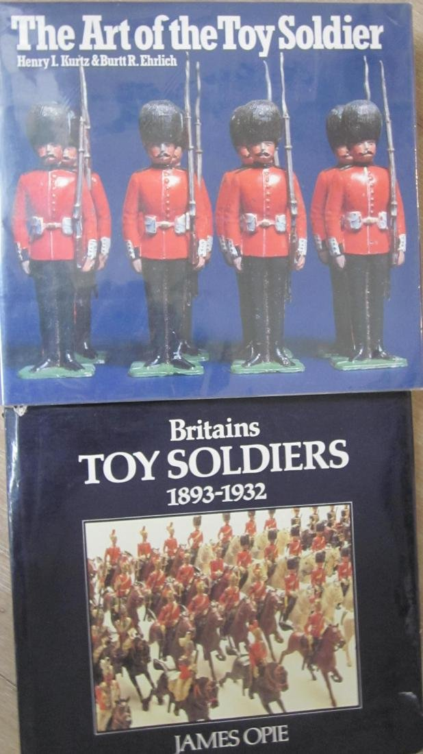 Pair of Coffee Table Soldier Books