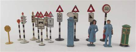 Crescent Gas Station Attendants and Road Signs