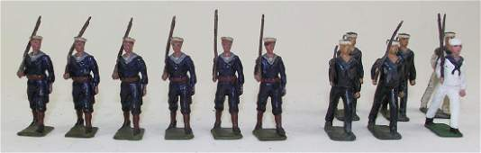Britains and Crescent US Navy Sailors