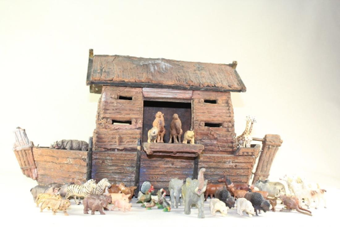 Elastolin Noah's Ark And Animals